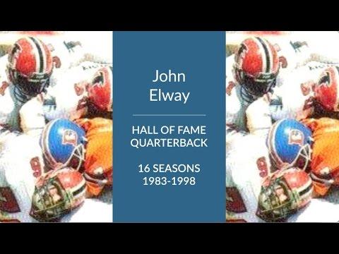John Elway Hall of Fame Football Quarterback