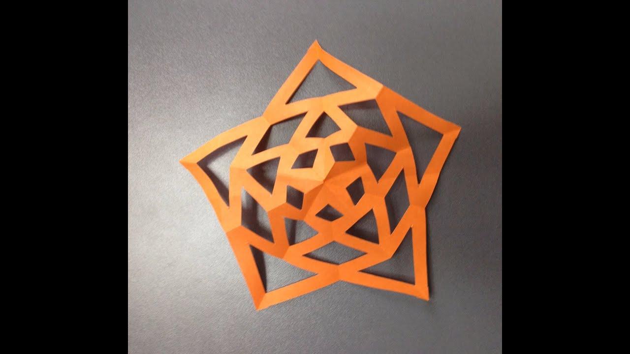 すべての折り紙 星の作り方 折り紙 : 折り紙 切り紙 きれいな星 折り ...
