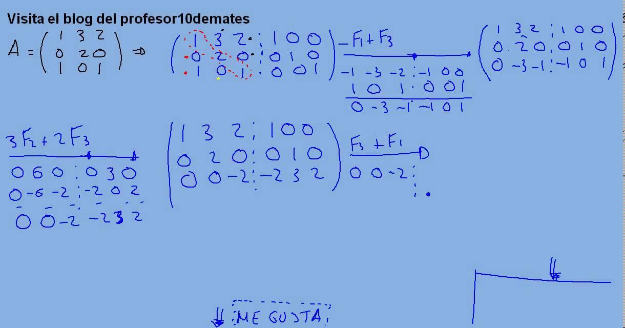 Inversa De Una Matriz Por Gauss 3x3 2a Jordan Ejercicio Resuelto