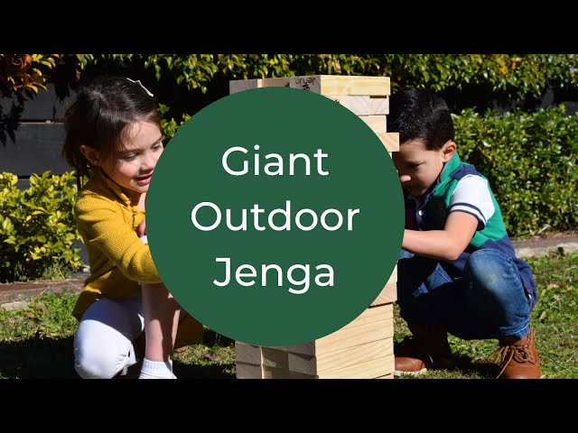 Fun way to occupy children outside! Giant Jenga Blocks