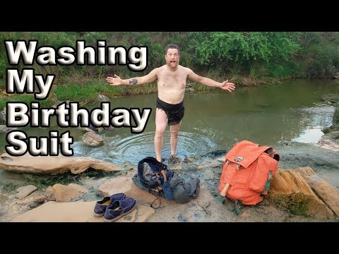 Laundry Day At The River !!!  / Day 6 Of 30 Day Survival Challenge  Texas
