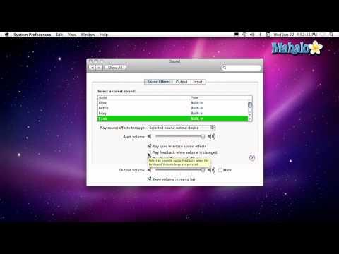 Using a Mac - Volume Controls