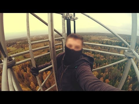 Climbing a 100m Radio Tower in Sweden (No Safety Equipment)