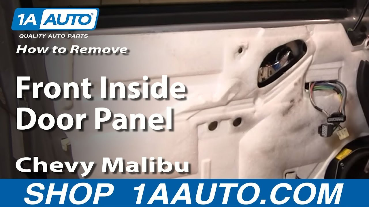 how to install replace front inside door panel chevy malibu 04 08 youtube. Black Bedroom Furniture Sets. Home Design Ideas