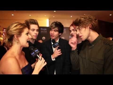 5 Seconds Of Summer at the People Magazine Awards 2014