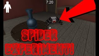 Roblox Granny spider experiment l How far can the spider go!?