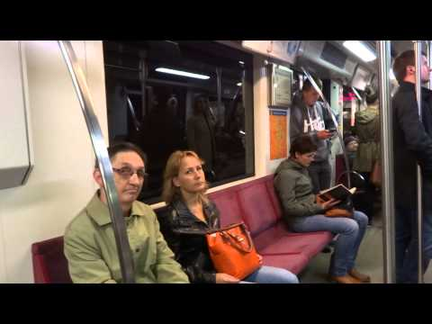 Subway ride in Warsaw, Poland