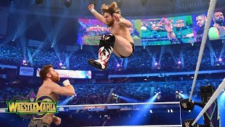 Daniel Bryan unleashes on Sami Zayn and Kevin Owens during his in-ring return: WrestleMania 34