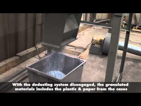 Granulating & Recycling Plastic CD/DVD Jewel Cases