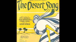 BROADWAY IN LONDON: George Baker & Kathlyn Hilliard ~ Desert Song (c.1927)