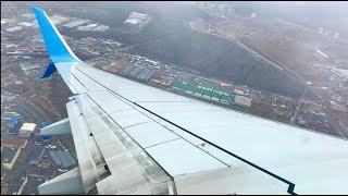 Посадка в ураган Победа Boeing 737-800