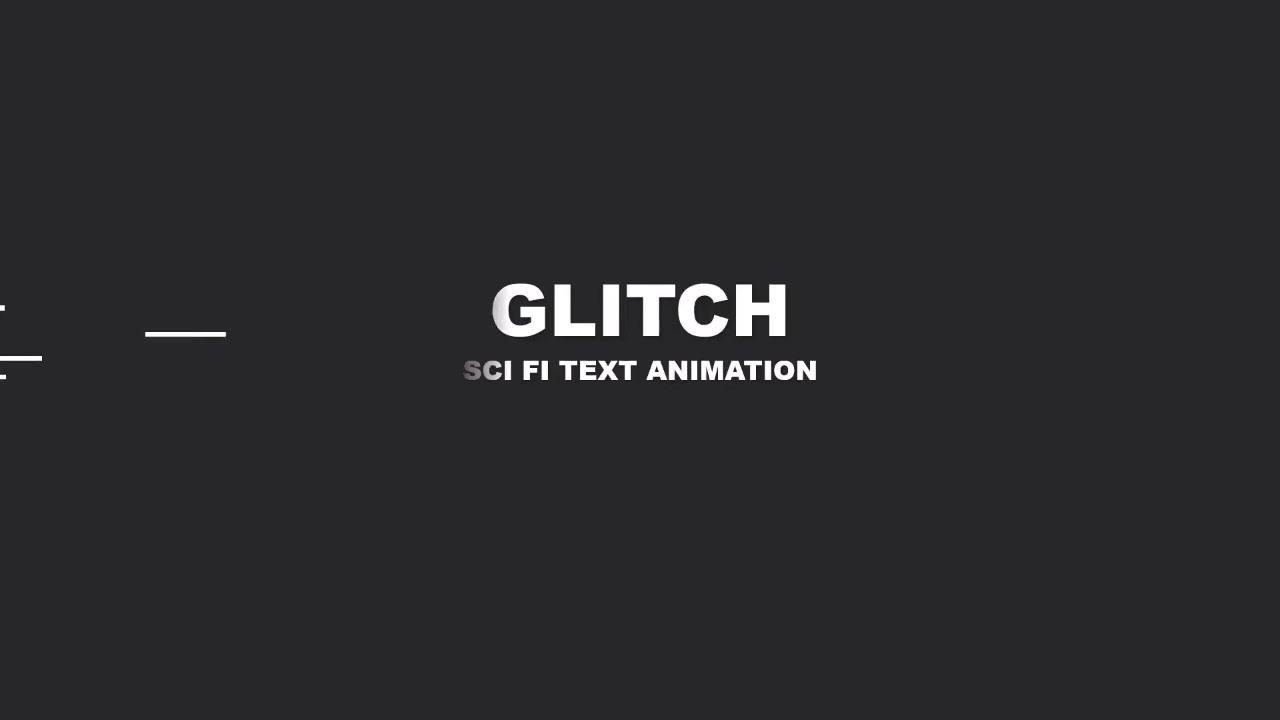 Glitch Text Animation Intro - PowerPoint Presentation