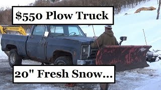 550-snow-plow-truck-20-inches-of-fresh-snow-hardest-day-ever