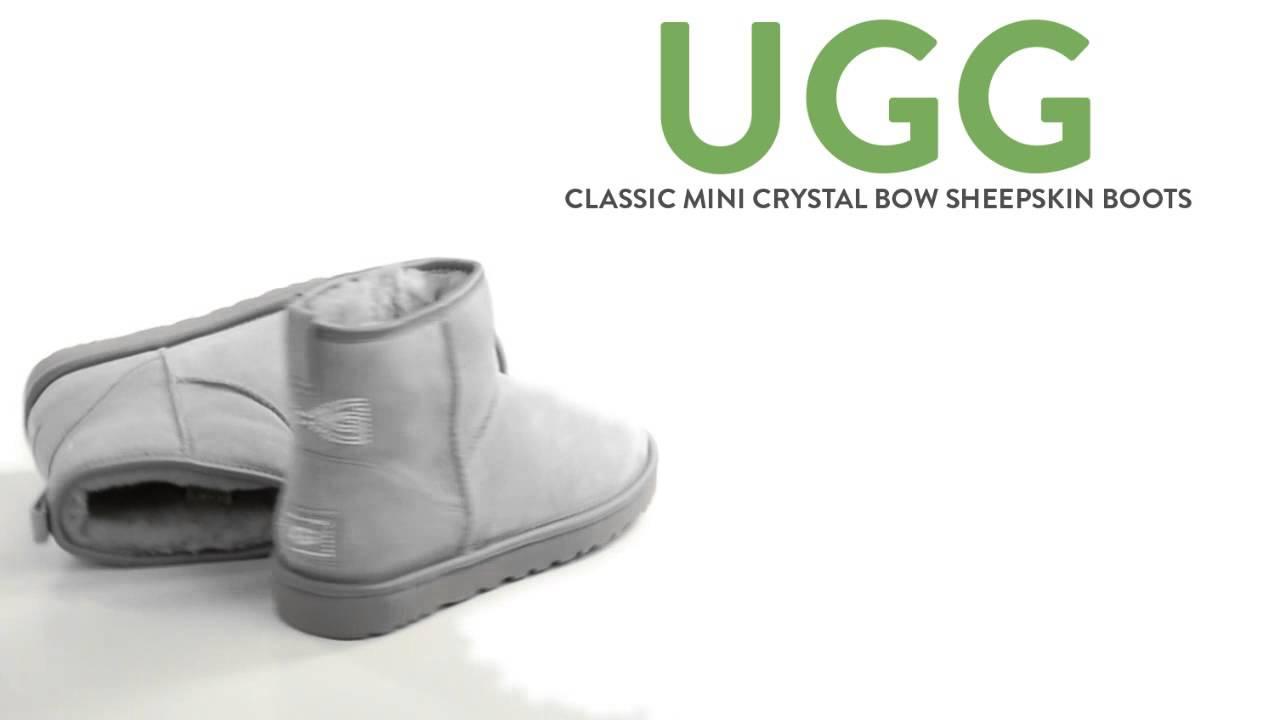 94d4965a178 UGG® Australia Classic Mini Crystal Bow Boots - Sheepskin (For Women)