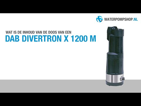 Product description. Dab divertron 1000 submersible pump. A 900w 230vac submersible strainer-inlet, 1