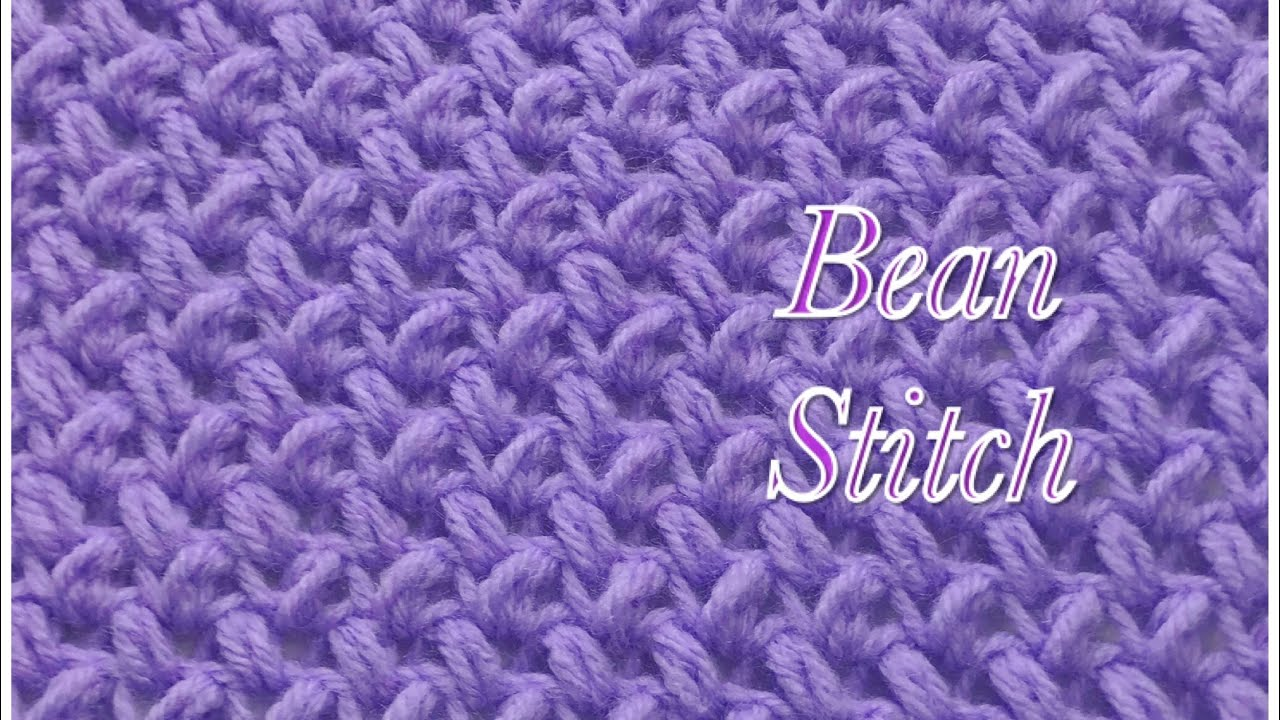 Bean Stitch Fast And Easy Crochet Stitch 31 Youtube