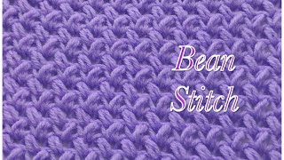 Bean Stitch -fast and easy crochet stitch #31