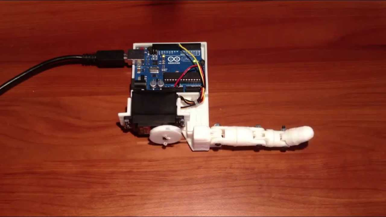 Inmoov single finger arduino controlled d printed robot