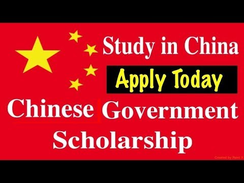 CHINESE GOVERNMENT SCHOLARSHIP (CSC), 100% FULL, Detailed Application Info