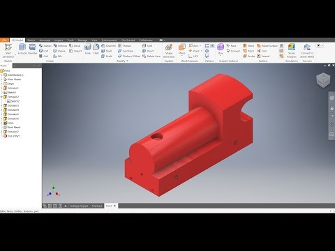 Autodesk Inventor 2019 -Train Body - Train Project - Beginner Tutorial