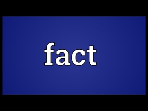 Fact Meaning