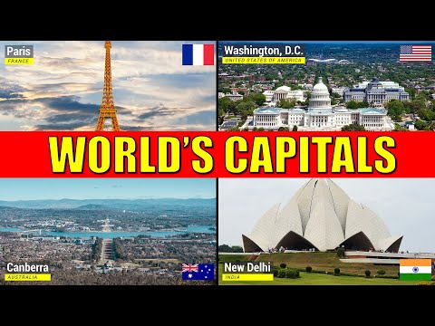 Countries and Capitals of the World - Learn Names of Capital Cities