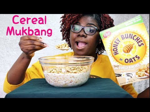 Cereal Mukbang | Honey Bunches Of Oats Vanilla Bunches