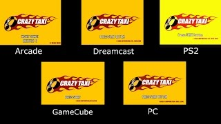 Crazy Taxi - Arcade vs DC vs PS2 vs GC vs PC - Intro Comparison