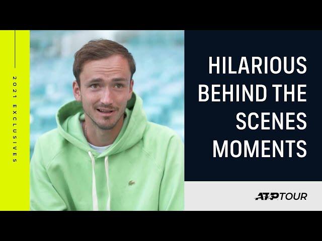 Medvedev, Rublev & Zverev Bring The Laughs