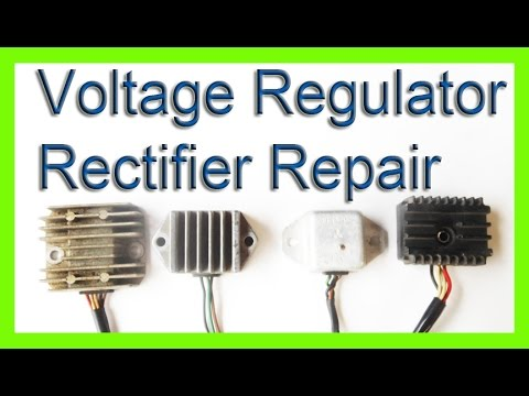 how to repair a voltage rectifier regulator charging system - YouTube