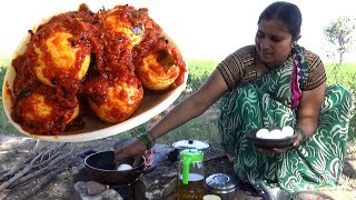 Village Foods-World Best Egg Curry Making Village Style-South Indian Cooking Egg Korma-Country Foods