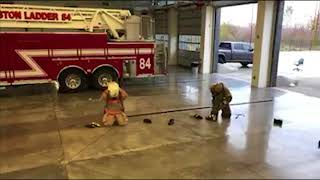Fire Chief vs Rookie: Bunker Gear Competition