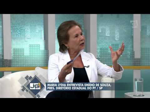 Maria Lydia entrevista Emídio de Souza, pres. Diretório Estadual do PT/SP