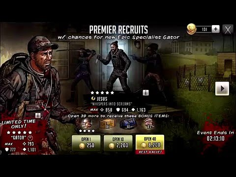 Download Walking Dead Road to Survival, Epic Gator Opening!!