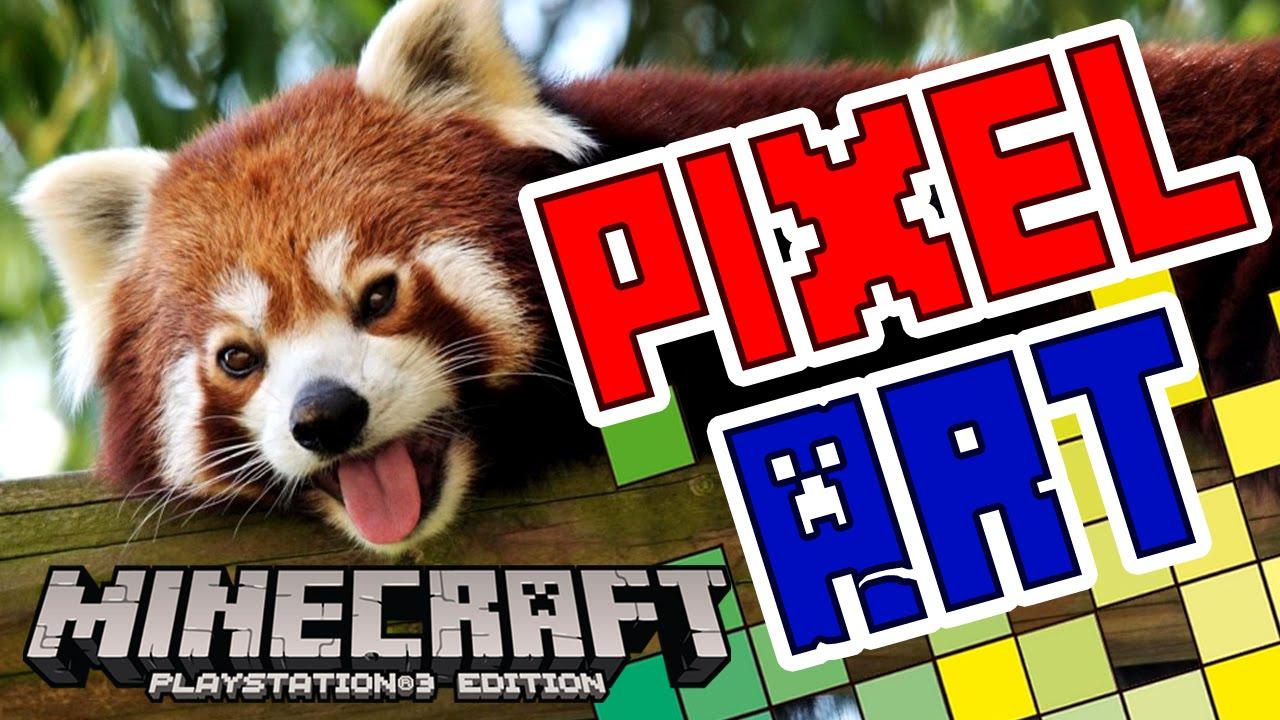 Pixel Art 1 Cabeza De Panda Rojo Minecraft Pc