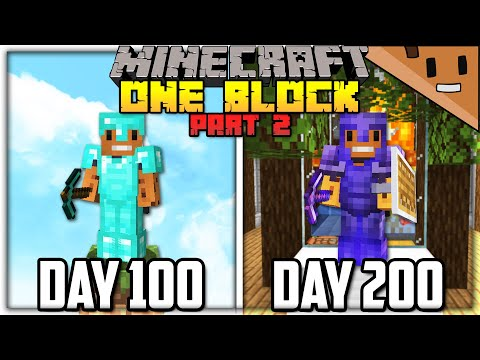 I Spent 200 Days in ONE BLOCK Minecraft… Here's What Happened