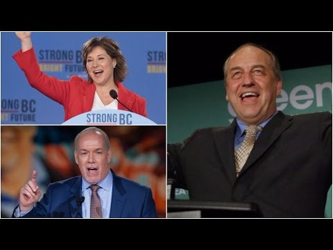 B.C. party leaders react after tight election