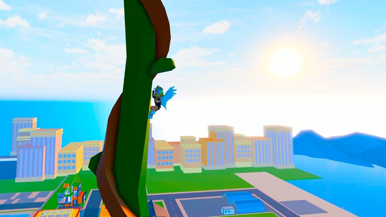 I Climb A Secret Giant Beanstalk ( Roblox Livetopia )