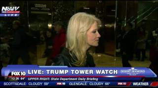 NEW ALERT: Kellyanne Conway Briefs Media At Trump Tower 11/21/16