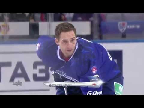 Вольски ставит рекорд скорости! / KHL ASG 2015: Wojtek Wolski wins fastest skater competition