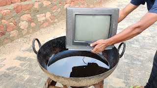 Boiling TV In Hot Oil Experiment || TV vs Hot Oil Experiment || Experiment King