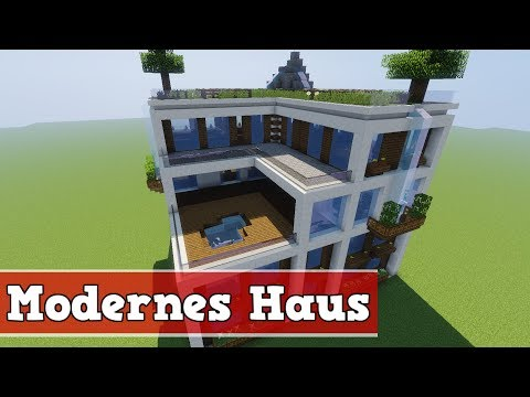 Wie baut man ein Modernes Haus in Minecraft | Minecraft Modernes Haus bauen deutsch