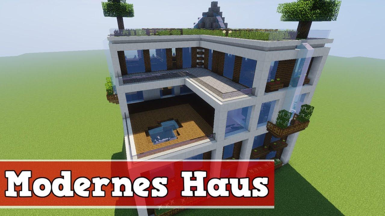 minecraft spielen deutsch » minecraft modernes haus bauen part 1 | bild