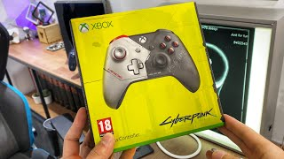 Cyberpunk 2077 Limited Edition Xbox Wireless Controller | ASMR Unboxing