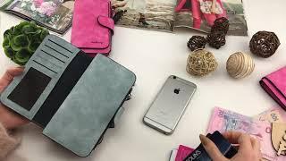 Обзор замшевого кошелька Baellery Forever - женский портмоне/кошелёк/