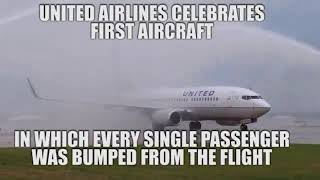 United Airline celebrates EVERY PASSENGER being bumped from flight