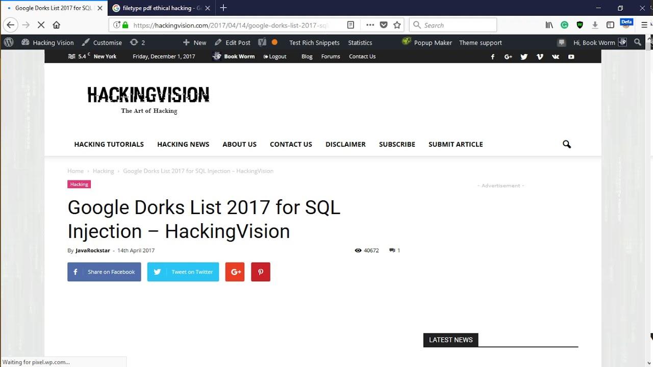 Hacking with Google   Find SQL Vulnerabilities using Google Dorks    Greyhacks
