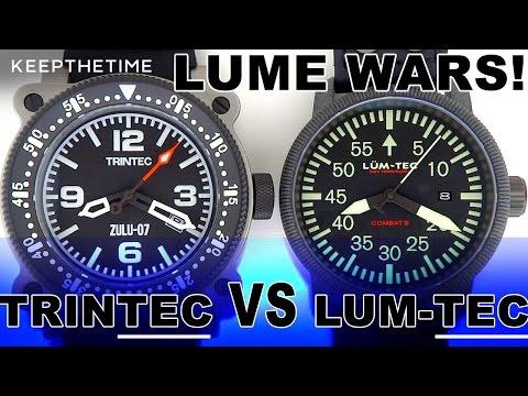 LUME WARS! #16   TRINTEC Zulu-07 VS LUM-TEC Combat B24 ⌚️💡 🔦