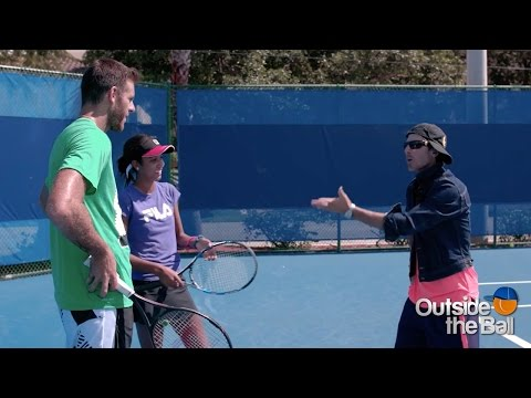 Juan Martín del Potro and Angelica Get Coaching Tips from Crazy Coach Randy