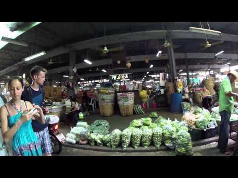 Blumenmarkt & Gemüsemarkt Pak Klong Talat Flower Market Bangkok GoPro Hero 3+ HD